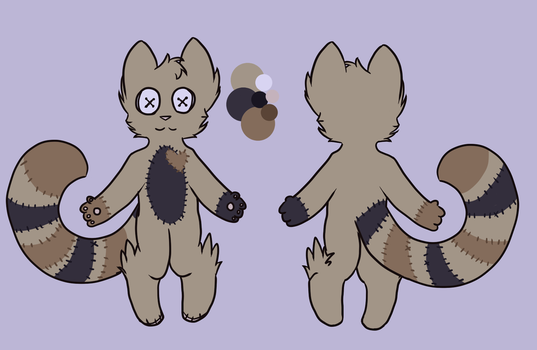 Button Cat Ref For galaxxyfox by Crazycat615