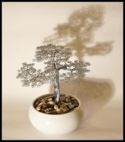 Wire tree bonsai sculpture by minskis