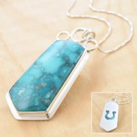 Lucky Charm Turquoise Pendant by metalsmitten