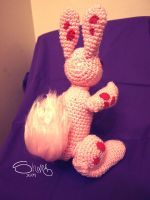 Pink spotted rabbit 2 by YenaYarn