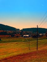 Powerlines into the distance by patrickjobst