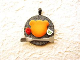 Bear Shaped Pancake Pendant by souzoucreations