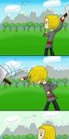 Using Thor's hammer 101 by Nami15