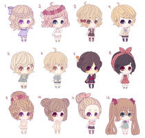 *lowered Prices*Mini Adopt Batch2 6/12 [Open] by Chiri-nyan
