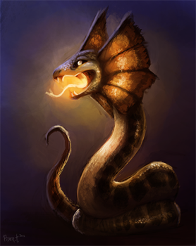 DAY 3. Frill Snake (50 Min) by Cryptid-Creations
