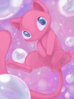 Mew Bubbles by IceCatDemon