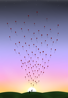 99 Red Balloons by Dreams-of-Impact