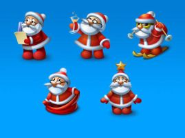 Santa Icons set by FreeIconsFinder