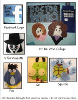 2012 What's'erFace 4 by SoandSewPlushies