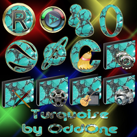 Turquiose icon set by 0dd0ne