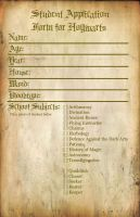 Hogwarts Student Application by BonnieandClydeProduc