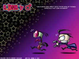 $ Wallpaper - Kinky Zim and Dib by Z-A-D-R