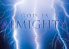 GOD IS ALMIGHTY - Christian religious posters by davidsorensen