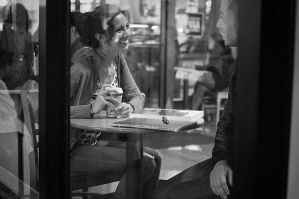 Smile at the Cafe by nathanspotts