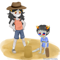 Kindergartenstuck Aradia and Sollux by elegantdictator