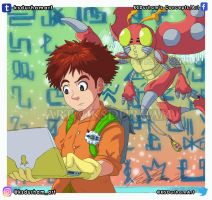 Digimon: Izzy and Tentomon by GZ-Iconic-Ent