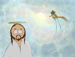 Jesus and God from South Park by nighteengail