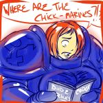Chick marines by WickedStar