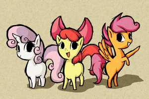 Wind Waker Style Cutie Mark Crusaders by GiyganMage