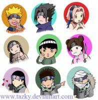 naruto cuties by tazky