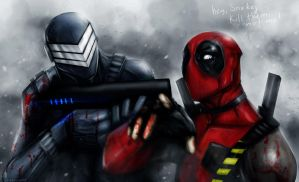 SNAKE EYES AND DEADPOOL by suspension99