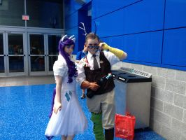 Discord and Rarity (FanExpo Vancouver 2014 Pic) by GingerBaribuu