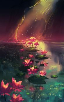 Lily grove by Noxmoony
