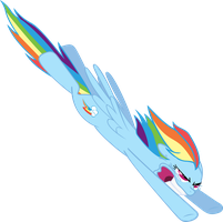 Request - Rainbow Dash Nose Dive by RichHap