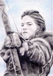 Rose Leslie miniature by whu-wei