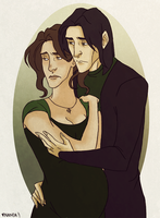 Commission:  Evelyn and Severus by nanda16