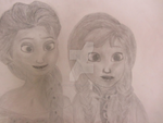 Arendelle Sisters by noname144able