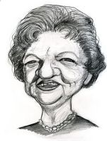 Aunt Clara from Bewitched by Caricature80