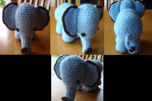 3 - Crochet Elephant by Morethantoday