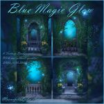 Blue Magic Glow backgrounds by moonchild-ljilja