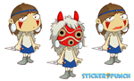 Mononoke Sticker Prev by SolomonMars