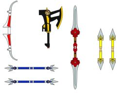 MMPR weapons by MysterMDD