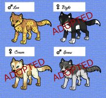 Wolf Adoptables 5 by 32d