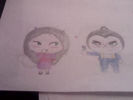 Tobe and Lillie (Pucca Style) by Irukalover1