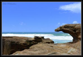Caves Beach 3 by Purple-Dragonfly-Art
