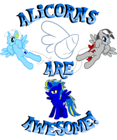 Alicorns Are Awesome by Creshosk