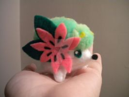 Mini Shaymin Plush by Monster-House-Fan92