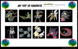 Top 10 Favourite Mega Evolutions by TheDarkBrawler90