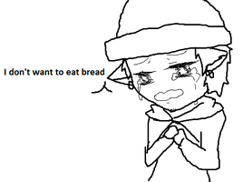 Chibi Neko Law; I don't want to eat bread by Lucid72