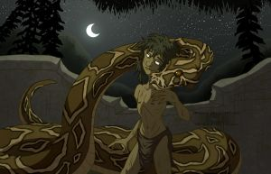 Original Kaa and Mowgli by JWiesner