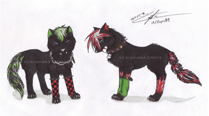 punk wolves :redrawn: by srs17