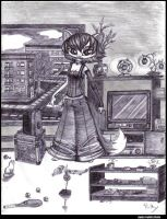 cat in the living room by Paya-Art