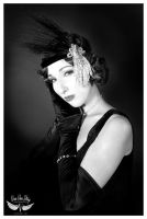 Black and White Flapper by MAdams06