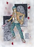 Glenn Walking Dead by ibroussardart