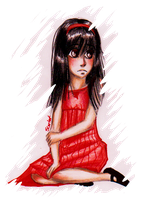 Little girl in Red by Cageyshick05