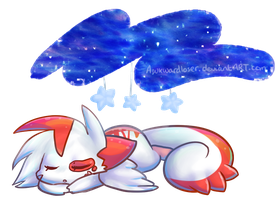 Sleeping beneath galaxies by AwkwardLoser